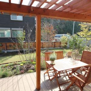 庭を楽しむ家